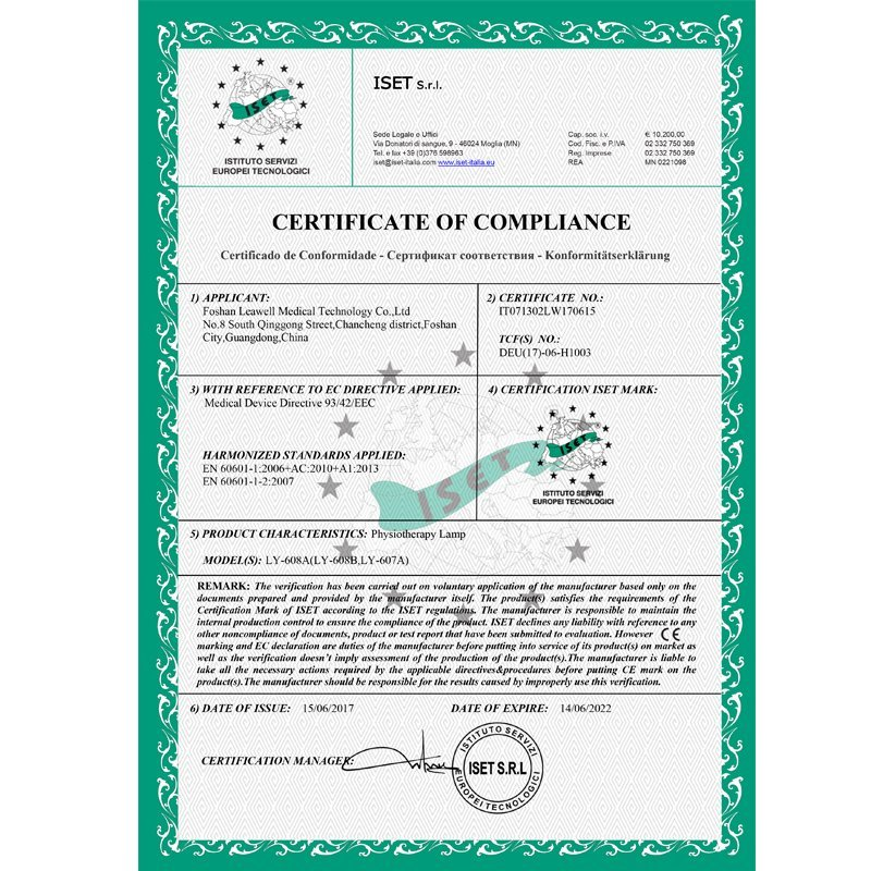 Medical CE certificate LY-608A 608B 607A
